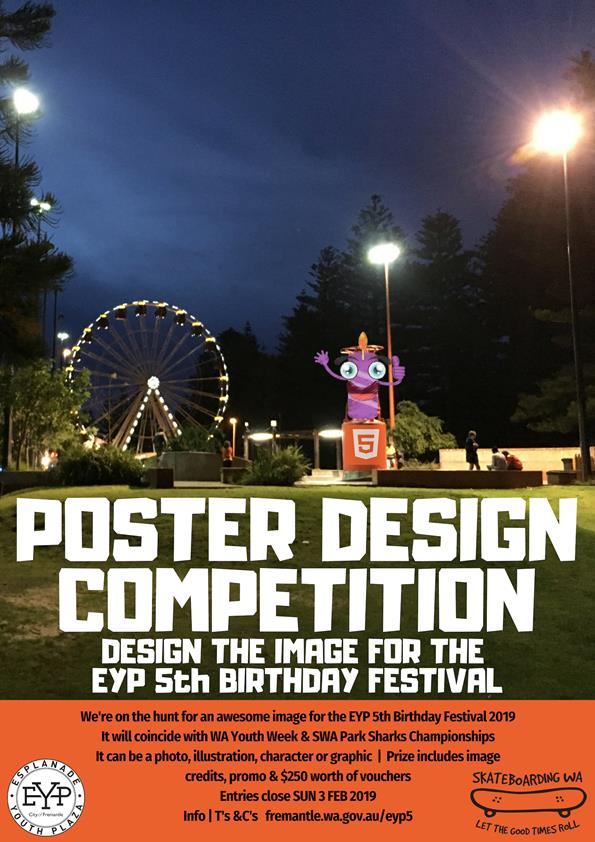 Esplanade Youth Plaza poster design competition 2019