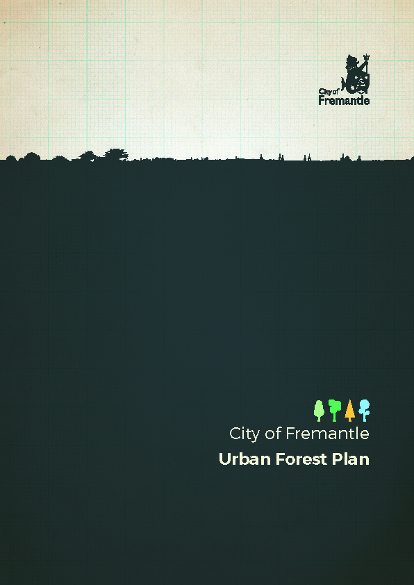Front cover of the Urban Forest Plan document