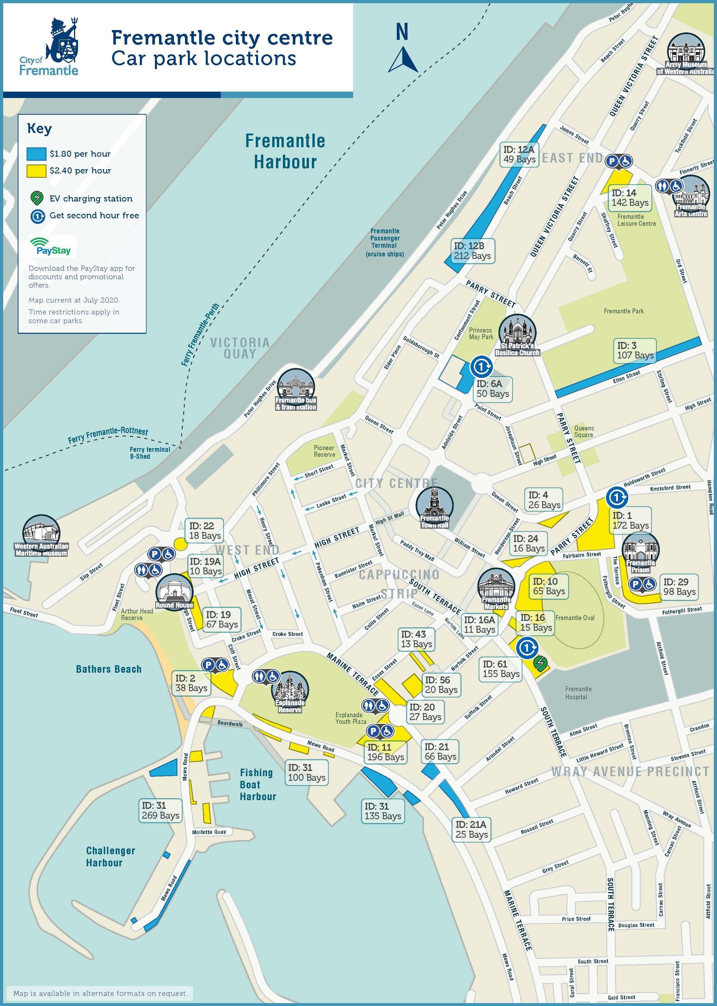 City of Fremantle parking locations map