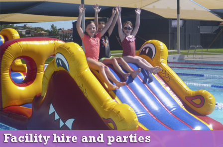facility hire and parties