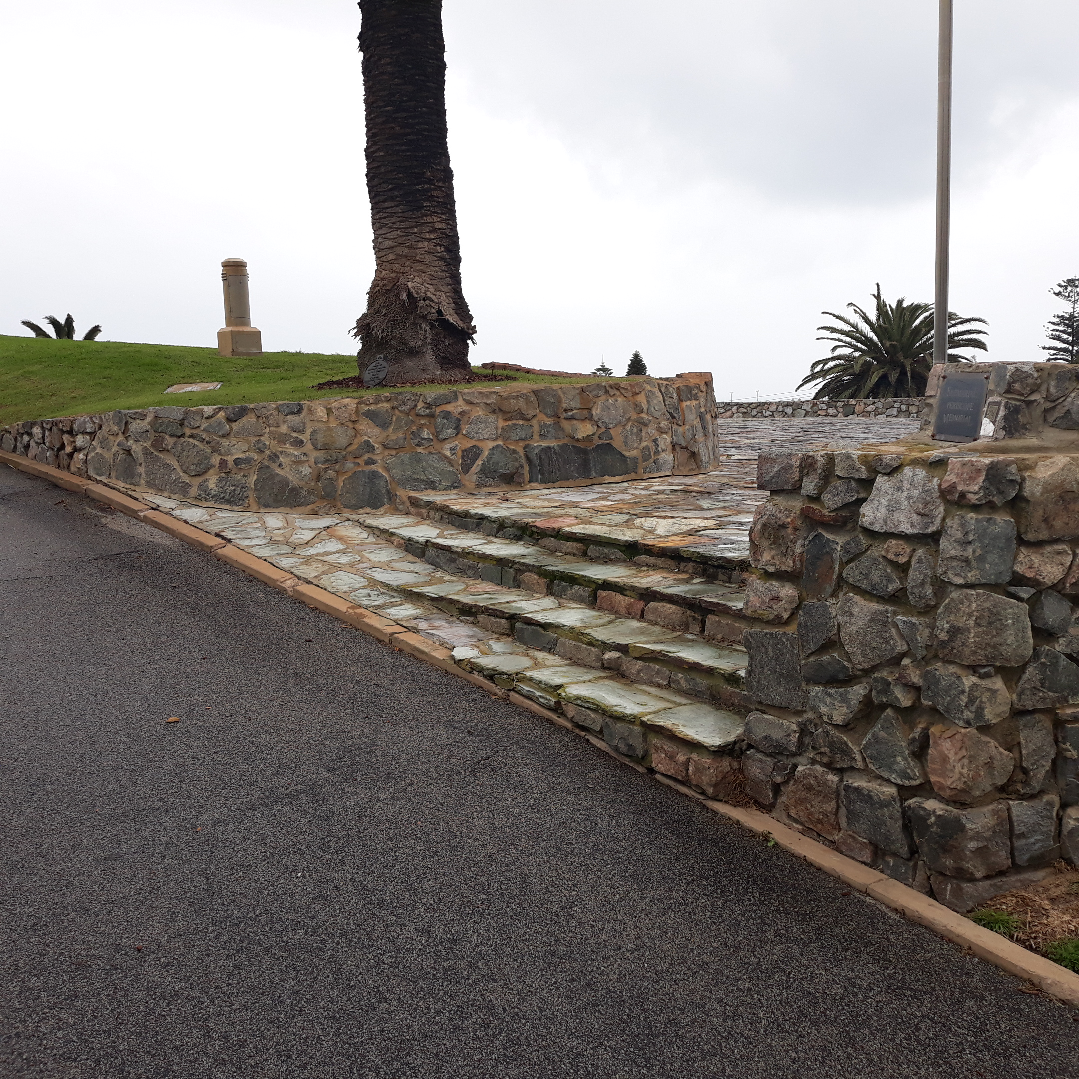 Stairs leading to the periscope monument