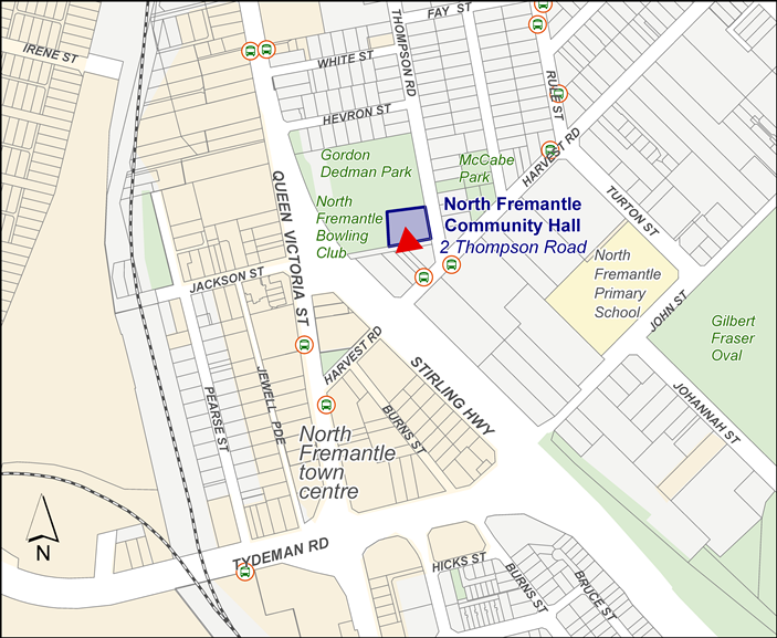North Fremantle Community Hall Location Map