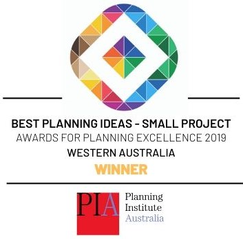 Planning Institute of Australia - Award winner for Best Small Project in 2019