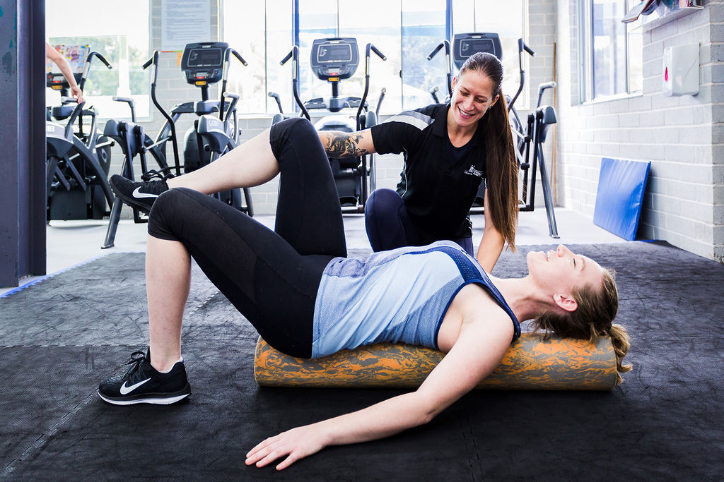 person trainer and customer