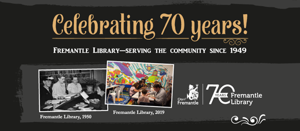 Fremantle Library 70th anniversary banner
