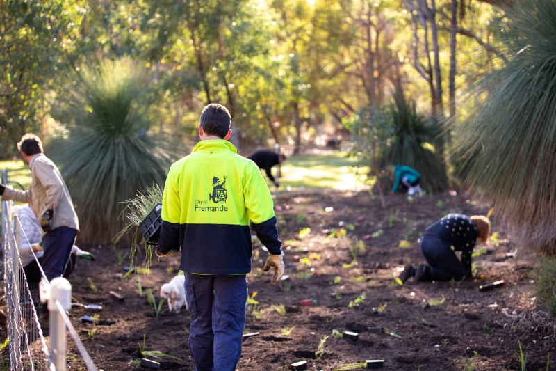 City of Fremantle Parks employee