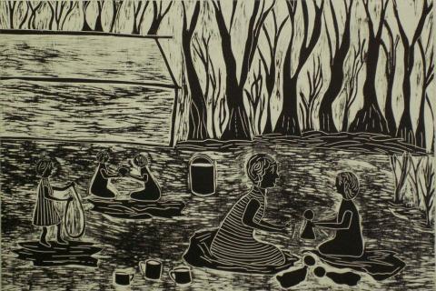 Aboriginal sketch of children
