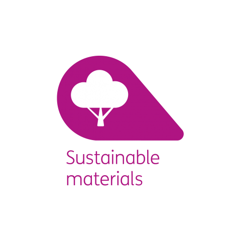 Sustainable materials petal