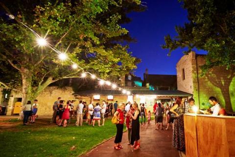 Fremantle Art Centre garden at night