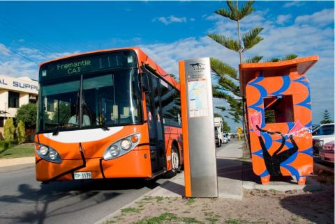 Free CAT bus through Fremantle