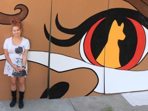 Nami Osaki Girl and Dingo art