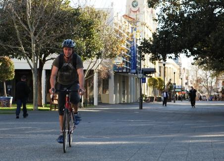 Cyclist in Fremantle