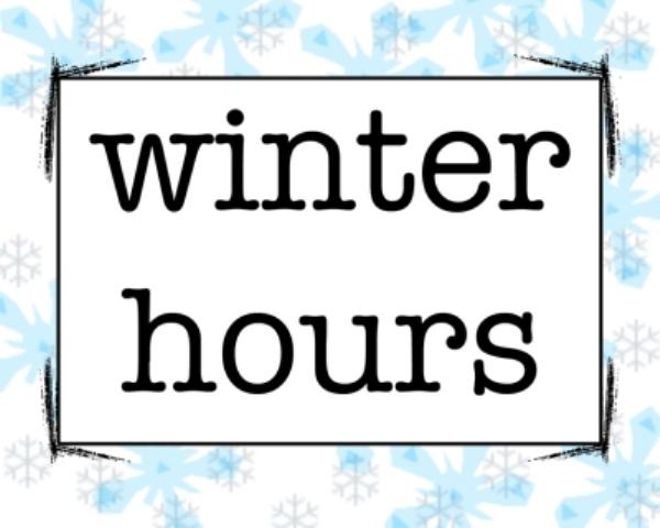 winter hour notice